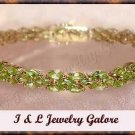 Amazing *13.00 carat* genuine peridot tennis bracelet