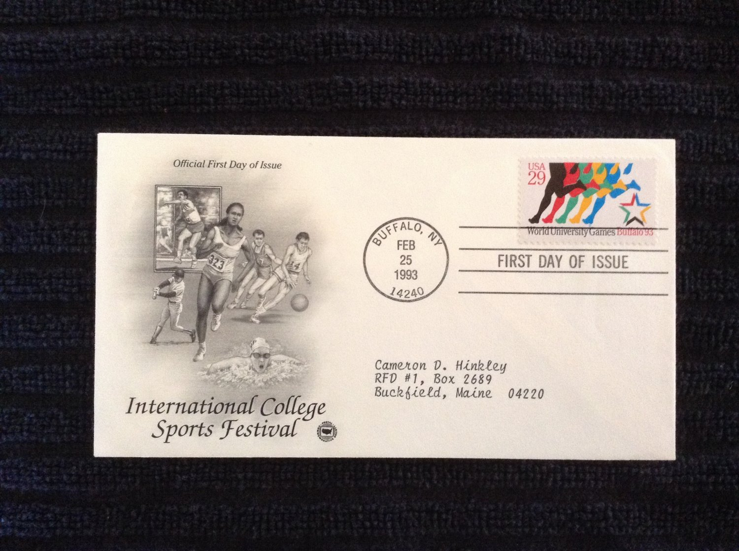 First Day of Issue Cover - International College Sports Festival (1993)