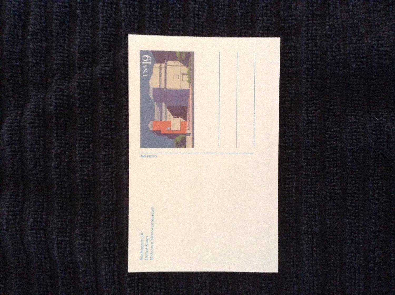 Unused Postage Paid Holocaust Memorial Museum Postcard