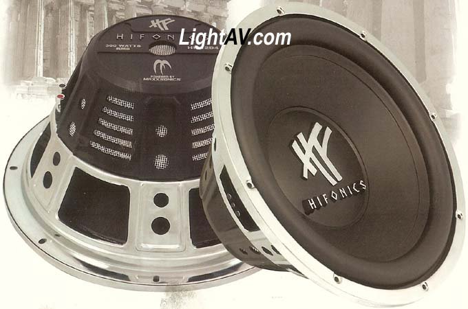 "Hifonics Single 4 Ohm Voice Coil Subwoofer 12"" 600 Watts MAX"