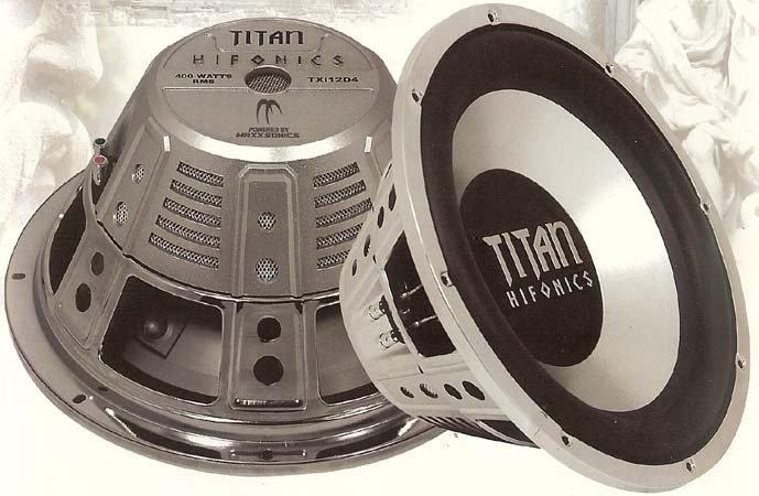 "Titan Single 4 Ohm Voice Coil Subwoofers 12"" 600 Watts MAX"