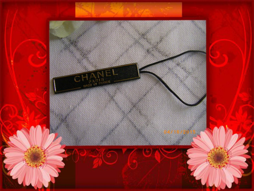 Chanel Plastic Merchandise Tag