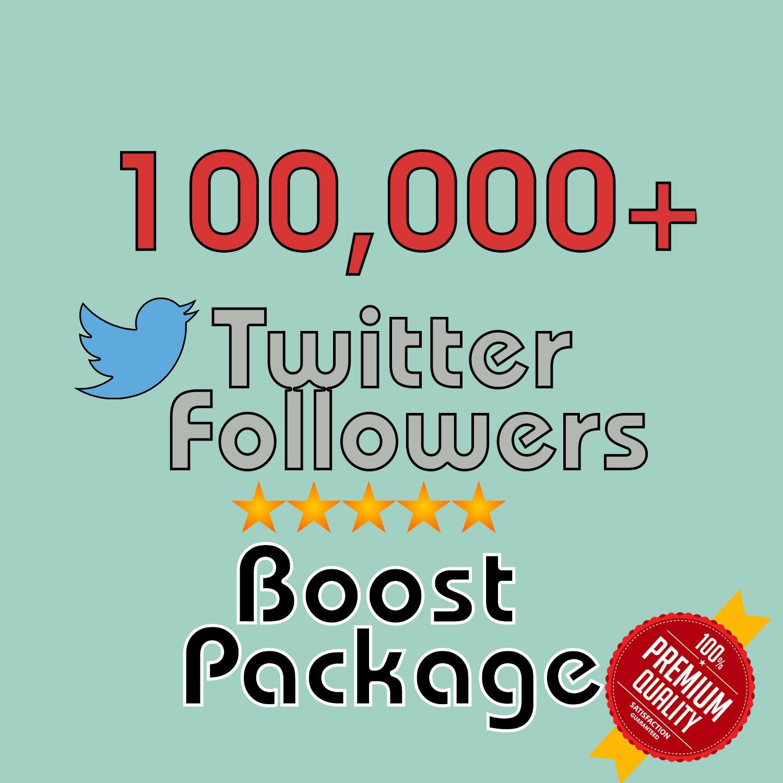 100,000 HQ permanent twitter followers