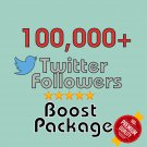 100,000 HQ permanent twitter followers