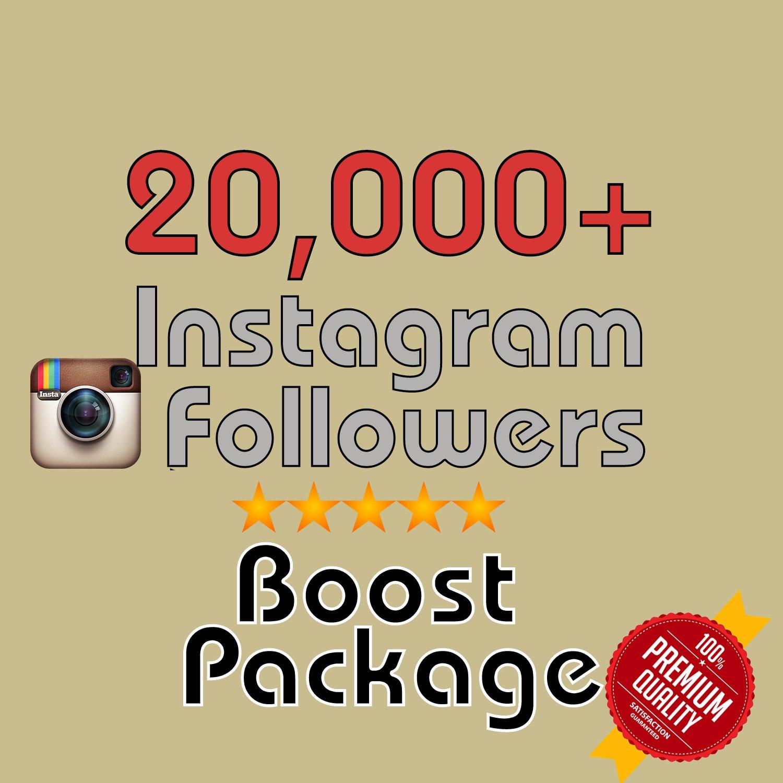 20,000 Instagram Followers INSTANT! in 72 hours
