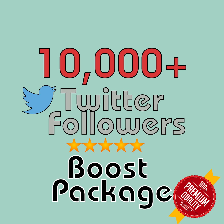 10,000 HQ permanent twitter followers