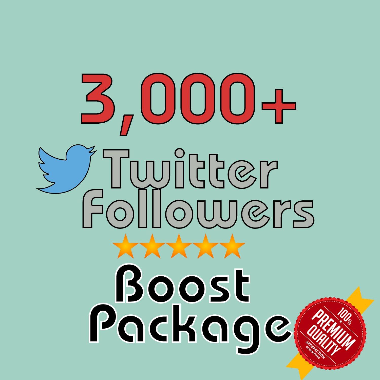 3,000 HQ permanent twitter followers