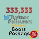 333333 permanent twitter followers