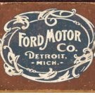 Ford Motor Co. Metal Tin Sign