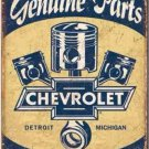 Chevrolet Genuine Parts Metal Tin Sign