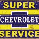 Chevrolet Super Service Metal Tin Sign