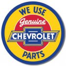 Chevy Parts Round Metal Tin Sign
