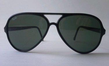 Ray Ban B&L Vintage Sunglasses Black CATS 145mm Bousch Lomb Aviator Used Green L
