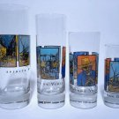 Vincent Van Gogh Spirit Shot Glasses Assorted Size Collectible Barware Set of 4