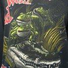 Budweiser Beer Frogs Men's Size L Vintage 90's Reptile Croc Sweatshirt Black GUC