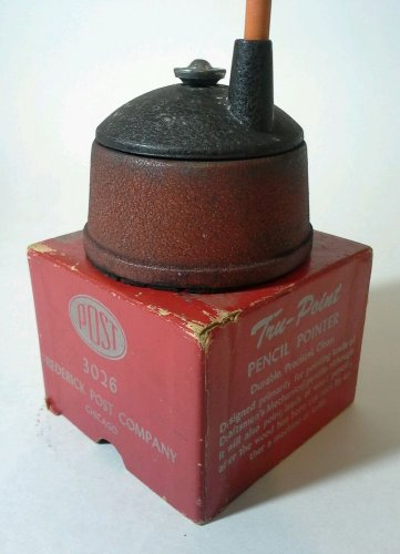 Vintage Pencil Sharpener Tru-Point 3026 Frederick POST Professional Drafting 60s
