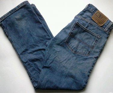 RALPH LAUREN POLO JEANS Men's Size 34 x 32 Easy Fit Straight Leg Distressed Blue