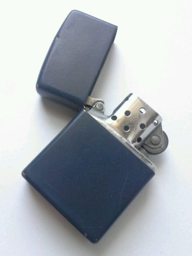 Vintage Zippo Lighter Cigarette Blue Brass Working Authentic Zippo Product 70's