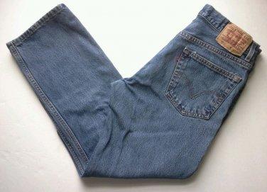 Levi's 505 Jeans Men's Size 32 X 29 Sturdy Denim Blue Medium Wash Work Levis EUC