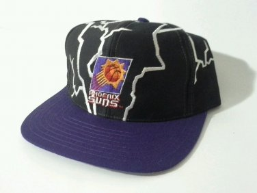 Phoenix Suns Snapback Hat Cap Retro Lightning Black Licensed Vintage 90's DS?