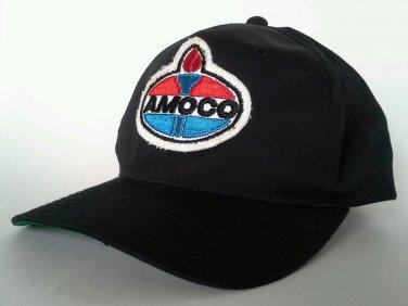 AMOCO Snapback Hat Cap Vintage Patch Oil Gas Station Baseball Cap YoungAn Black