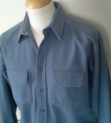 FIVE BROTHER Flannel Shirt Men's Size L Large 16-16.5 Thick Heavy Cotton Button