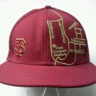 New Era 59Fifty Baseball Cap San Francisco  Map Overhead Maroon Fitted Hat 7 1/8