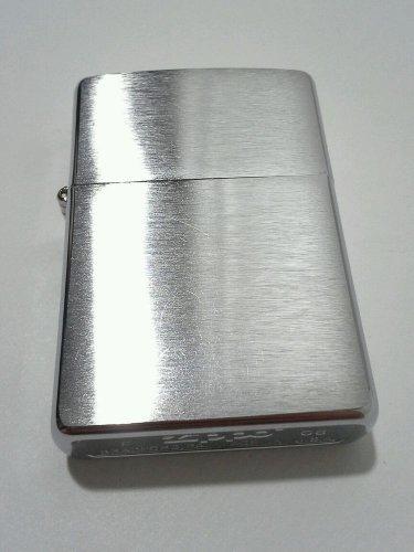 Zippo Lighter Street Chrome F 06 Butane Flint Wick Machine Finish Authentic USA