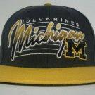 Michigan Wolverines NCAA Twins 47 Snapback Hat Baseball Cap Adjustable Gray EUC