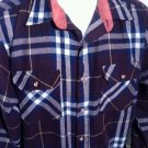 Outdoor Exchange Flannel Jacket Shirt Plaid Mens Size XL Nylon Button Hiking EUC