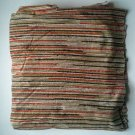 1 Yard Square Red Striped Multicolor Stripe Fabric Cotton Clothing VINTAGE RETRO