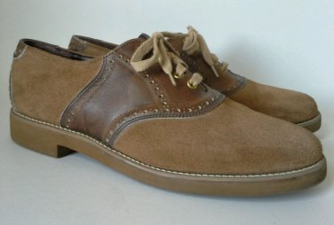 Armadillos Men's Size 10 M Shoes Oxford Suede Leather Casual Vintage Union USA