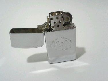 Zippo Lighter Chrome Alsco Anaconda Bradford PA Engraved Authentic USA Vintage