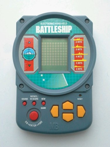 Battleship Handheld Milton Bradley 1995 Electronic Hand Held Digital Video Game