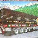 "SUPER NICE! HELLER 1:24 BOX Trailer ""International Transports"" NEW/SEALED!"