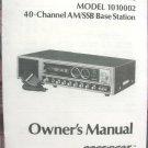President Madison AM/SSB CB Radio Owners Manual w/schematics