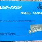 Midland 78-999 AM/SSB CB Radio Owners Manual w/schematics