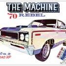 1970 AMC Rebel Machine 390 cu. in. Magnetic Postcard