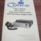 Cobra 148GTL AM/SSB CB Radio Owners Manual w/schematics