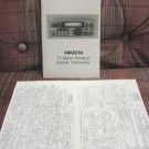 Uniden HR-2510 AM/FM/SSB 10 Meter Radio Owners Manual w/schematics