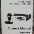 President Grant AM/SSB CB Radio Owners Manual - Early Version