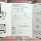 Cobra CA-61 Dynamike Plus CB Desk Microphone Operating Instructions & Schematic