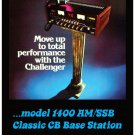 "TRS Challenger 1400 AM/SSB Vintage CB Radio Poster 18"" x 24"""