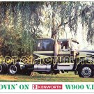 Movin' On Kenworth W900 in Countryside Claude Akins Postcard Magnet