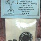 """NOS - NEW Final Touch """"One Finger"""" Volume Control for Astatic D104 - Silver Eagle"""