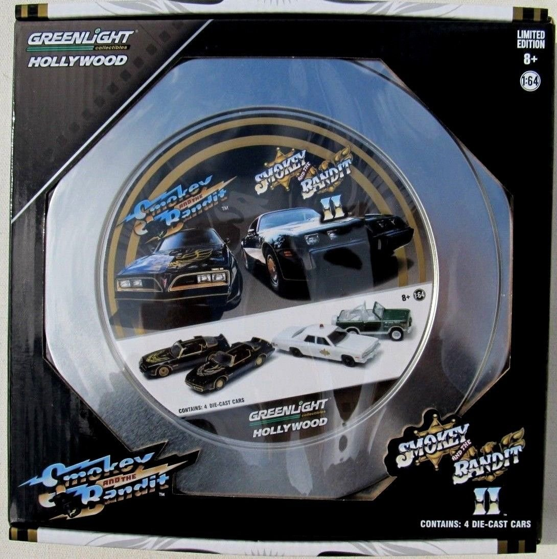 Greenlight Smokey and the Bandit 1977 & 1980 Trans Am Collector Tin Limited Edition Set of 4