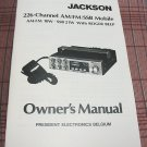 President Jackson AM/FM/SSB Export CB Radio Owners Manual