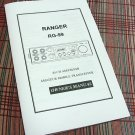 Ranger RG-99 AM/FM/SSB Export CB Radio Owners Manual