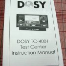 Dosy TC-4001 CB Test Center Instruction Booklet + Bonus FREE Dosy Brochure