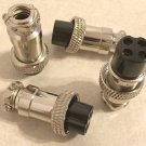 Qty of (4) 4 pin female Mic Plugs for Uniden - Cobra - Midland CB/Ham Radios